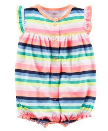 Carter's Butterfly Snap-Up Cotton Romper - Multicolour