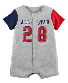Carter's All-Star Snap Up Cotton Romper - Grey