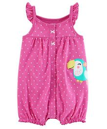 Carter's Toucan Snap-Up Cotton Romper - Pink