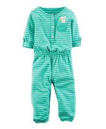 Carter's Embroidered Jumpsuit - Green