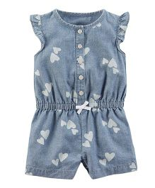 Carter's Chambray Romper - Blue
