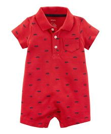 Carter's Car Romper - Red