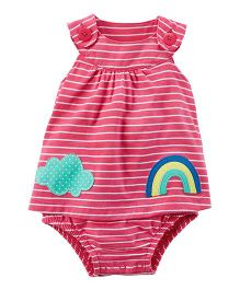 Carter's Striped Sunsuit - Pink