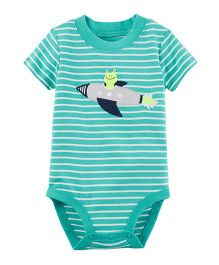 Carter's Short-Sleeve Collectible Bodysuit - Turquoise