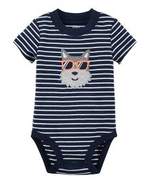 Carter's Short-Sleeve Collectible Bodysuit - Navy Blue