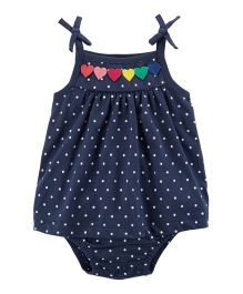 Carter's Heart Tie Shoulder Bodysuit - Navy Blue