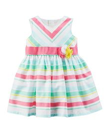 Carter's Rosette Sateen Dress - Multicolor