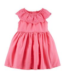 Carter's Lace Eyelet Dress - Pink
