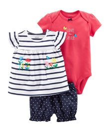 Carter's 3-Piece Bodysuit & Diaper Cover Set - Red