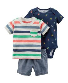Carter's 3-Piece Little Short Set - Navy Blue
