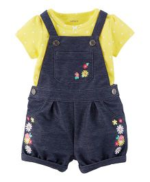Carter's 2-Piece Tee & Shortalls Set - Blue & Yellow