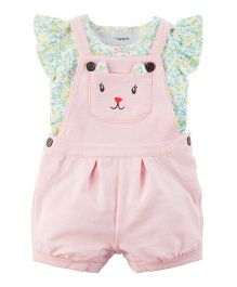 Carter's 2-Piece Tee & Shortalls Set - Pink