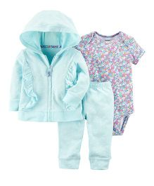 Carter's 3-Piece Little Jacket Coordinate Set - Turquoise Blue