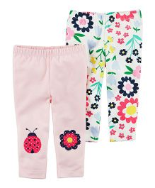 Carter's 2-Pack Floral Leggings - Pink Multicolour
