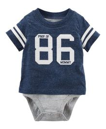 Carter's Sporty Double-Decker Bodysuit - Navy Blue Grey