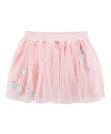 Carter's Embroidered Tulle Tutu Skirt - Pink