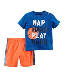 Carter's 2-Piece Jersey T-Shirt & Mesh Short Set - Blue