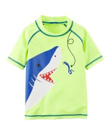 Carter's Shark Rashguard - Green