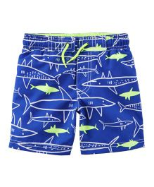 Carter's Neon Shark Swim Trunks - Royal Blue