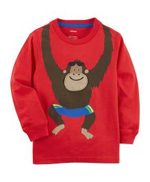 Carter's Monkey Jersey Tee - Red