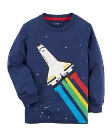 Carter's Rocket Ship Jersey Tee - Navy Blue