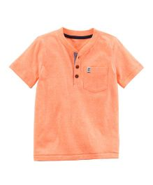 Carter's Pocket Henley - Orange
