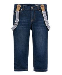 Carter's Suspender Jeans - Blue