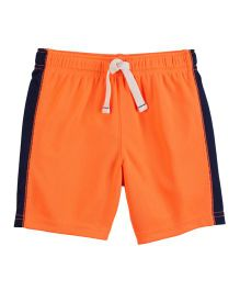 Carter's Pull-On Mesh Shorts - Orange