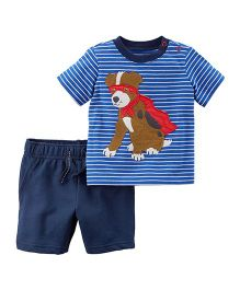 Carter's 2-Piece Jersey T-Shirt & French Terry Short Set - Blue