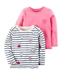 Carter's Heart Tees Pack of 2 - Pink & White
