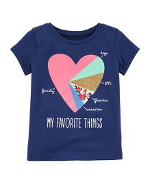 Carter's My Favourite Things Jersey Tee - Navy