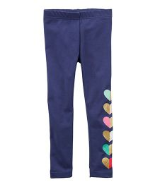 Carter's Heart Leggings - Blue