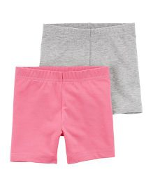 Carter's Tumbling Shorts Pack of 2 - Grey & Pink