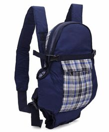 3 Way Baby Carrier Checks Print - Navy Blue