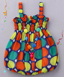 Party Princess Polka With Heart Print Top - Multicolor
