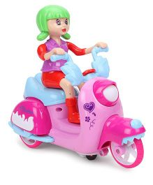 Smiles Creation Scooter Riding Doll - Red Purple Green