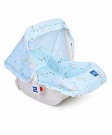 Mee Mee 5 In 1 Baby Cozy Carry Cot Cum Rocker - Blue White