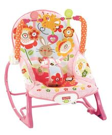 Fisher-Price Infant To Toddler Rocker Bunny Print - Pink