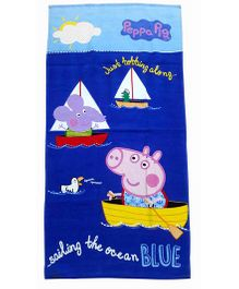 Sassoon Peppa Pig Towel - Blue