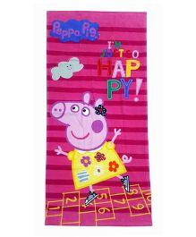 Sassoon Peppa Pig Towel - Pink