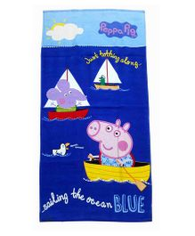 Sassoon Peppa Pig Towel With Gift Box - Blue