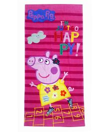Sassoon Peppa Pig Towel With Gift Box - Pink