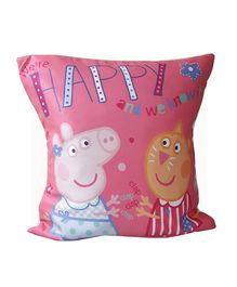 Sassoon Peppa Pig Cushion Cover - Pink