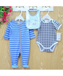 Lilpicks Couture Stripe Printed 3Pc Set - Multicolour