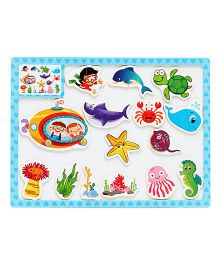 EZ Life Kids Puzzle With Magnetic White Board - Blue