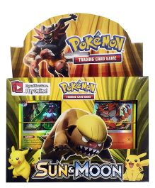 Emob Pokemon Sun & Moon Trading Card Game Set - Yellow