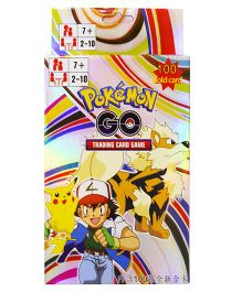 Emob Pokemon Go Gold Trading Card Game Set - 100 Cards