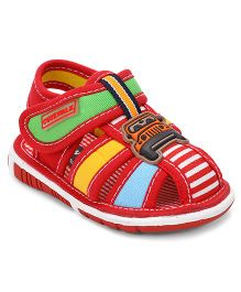 Cute Walk By Babyhug Sandals Jeep Patch - Red