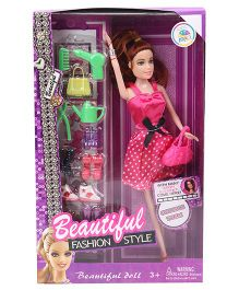 Smiles Creation Beautiful Fashion Style Doll Set Pink - 28 cm