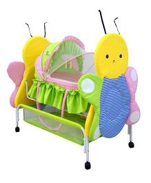Sunbaby Buzz The Butterfly Bassinet Green Pink Yellow  - SB 233 G
